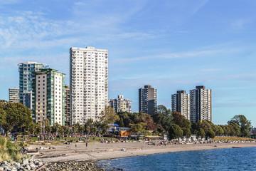 English Bay Beach in Vancouver, Canada