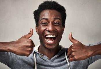 Happy black man.