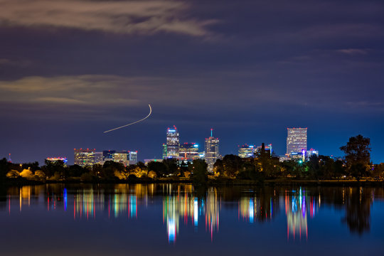 Denver, Colorado as seen from Sloans Lake