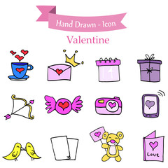 Illustration of element stock valentine day