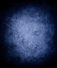 Abstract old blue background for printing brochures or papers Vintage grunge dark background texture with frame