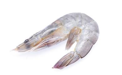 Prawns, Tiger shrimps, Raw prawns isolated on white background