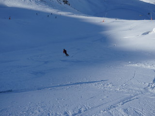 lonely off piste skier