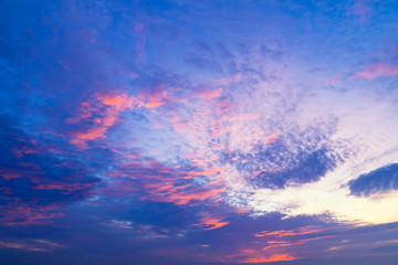 beautiful sunrise sky abstract used for background