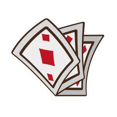 cartoon ace pocker magic vector illustration eps 10