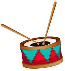 Drum with two sticks