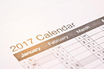 wording on 2017 calendar.