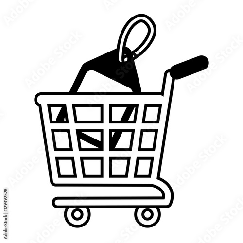 """""""shopping cart online price tag outline vector ..."""