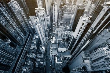 Hong Kong apartment block in China.