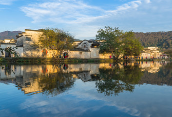 view shot from Anhui old village,Hong Cun in China.