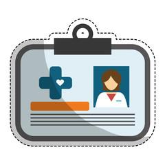 medical id card icon image vector illustration design