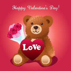 Valentines Day Bear Greeting