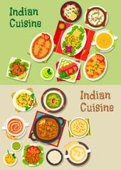 Indian cuisine dishes for restaurant menu design