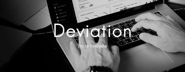 Wall Mural - Deviation Innovate Changes Development Improvement Concept