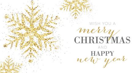 Elegant Merry Christmas Banner