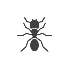 Ant icon vector, filled flat sign, solid pictogram isolated on white. Symbol, logo illustration