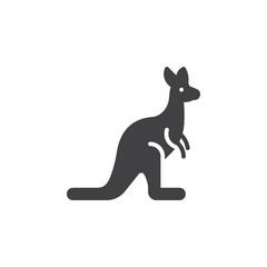 Kangaroo icon vector, filled flat sign, solid pictogram isolated on white. Symbol, logo illustration