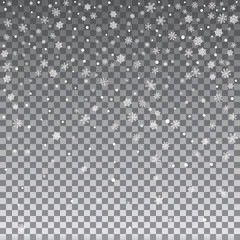 Falling Shining Snowflakes
