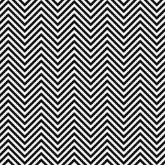 Black and white seamless zig zag line pattern