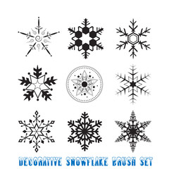 Decorative Snowflake Brush Set