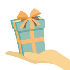 Hand present Gift