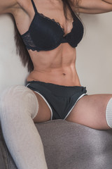 Healthy body of a young attractive woman