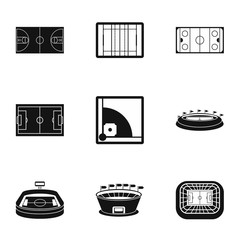Championship icons set. Simple illustration of 9 championship vector icons for web