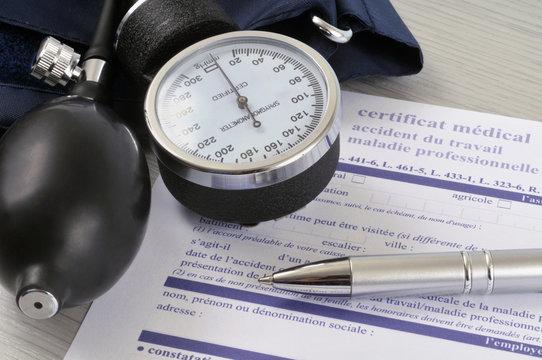 Certificat médical d'accident du travail