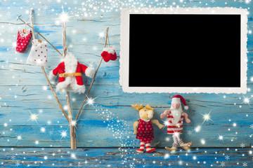 Christmas vintage photo frame card
