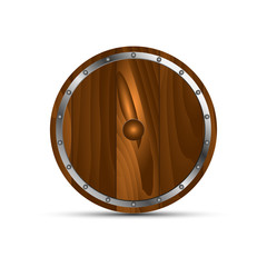 Round shield from wood
