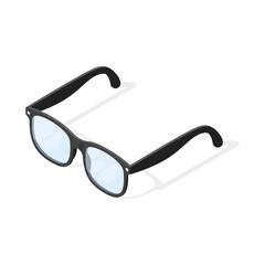 Isometric 3d vector illustration of hipster glasses.