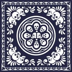 grunge skull coat of arms,bandana skull
