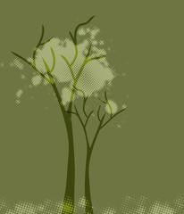 Abstract green tree. Vector