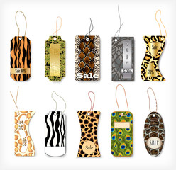 Set of tags with a different structure  animals