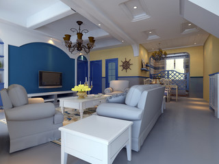 rendering of home interior.