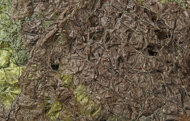 camouflage net in the detail