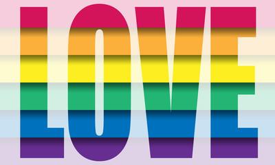Vector gay flag. Gay pride flag. Flag of gay love. Gay pride. Ga