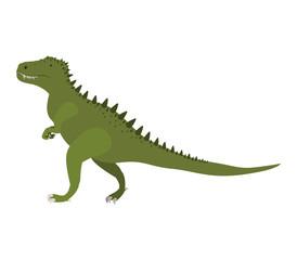 colorful cartoon with dinosaur tyrannosaurus vector illustration
