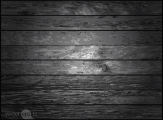 Dark wood texture. Vector