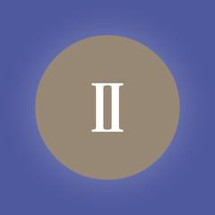 rome two icon. flat design