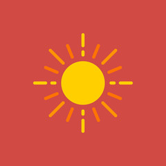 sun icon. flat design