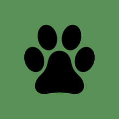 dog footprint icon. flat design