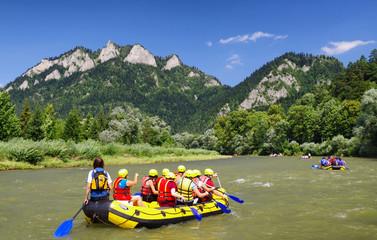 Canoe trips on river Dunajec, Slovakia