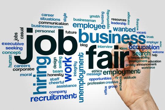 Job fair word cloud