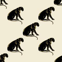 Leopard light background abstract art creative modern vector pattern