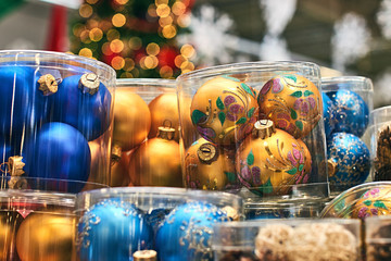 Christmas decorations on the market