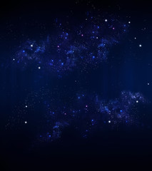 Starry sky, blue background
