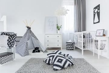 Child room in scandinavian style