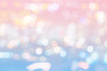 abstract bokeh light of cityscape on sweet color filter background - can use to display or montage on product