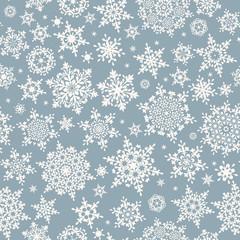 Different geometric snowflakes. EPS 10